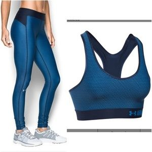 Under Armour Set - Leggings & Bra - Small